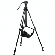 EIMAGE RISING COLUMN TRIPOD KIT CON GA230 Y GH03F CON STONE BAG, CARRYING CASE + SHOULDER STRAP